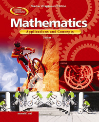 Mathematics: Applications and Concepts, Course 1, Teacher Wraparound Edition