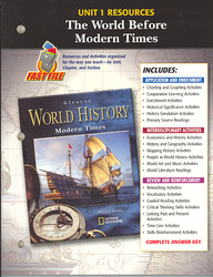 Glencoe World History Modern Times, Unit 1 Resources