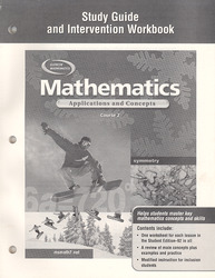 Mathematics: Applications and Concepts, Course 2, Study Guide and Intervention Workbook