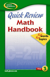 Quick Review Math Handbook: Hot Words, Hot Topics, Book 3, Student Edition