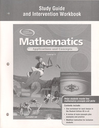 Mathematics: Applications and Concepts, Course 3, Study Guide and Intervention Workbook