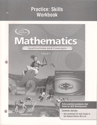 Mathematics: Applications and Concepts, Course 3, Practice Skills Workbook