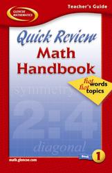 Quick Review Math Handbook: Hot Words, Hot Topics, Book 1, Teacher's Guide