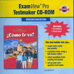 ¿Cómo te va? Intro Nivel rojo, ExamView Pro Testmaker CD-ROM