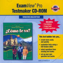 ¿Cómo te va? Level A Nivel verde, ExamView Pro Testmaker CD-ROM