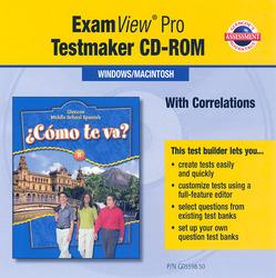 ¿Cómo te va? Level B Nivel azul, ExamView Pro Testmaker CD-ROM