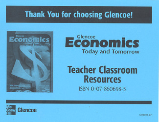 Economics, Today and Tomorrow, Teacher Classroom Resource