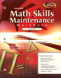 Math Skills Maintenance Workbook: Course 1, Teacher Edition