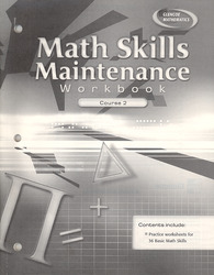 Math Skills Maintenance Workbook, Course 2