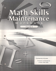 Math Skills Maintenance Workbook, Course 3