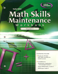 Math Skills Maintenance Workbook: Course 3, Teacher Edition