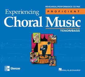 Experiencing Choral Music, Proficient Tenor Bass Voices, Rehearsal/Performance CD Pak