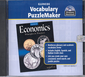 Economics: Principles and Practices, Vocabulary PuzzleMaker CD-ROM