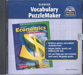 Economics Today and Tomorrow, Vocabulary PuzzleMaker CD-ROM