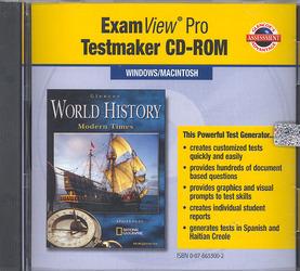 Glencoe World History Modern Times, ExamView Pro Testmaker CD-ROM
