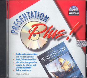 Glencoe World History, Modern Times, Presentation Plus! CD-ROM Mac