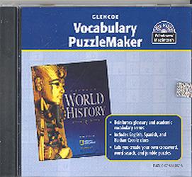 Glencoe World History, Vocabulary PuzzleMaker CD-ROM