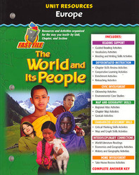 The World and Its People: Western Hemisphere, Europe, and Russia, Europe Resource Book