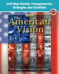 American Vision, Unit Map Overlay Transparencies, Strategies and Activities
