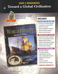 Glencoe World History, Modern Times, Unit 6 Resources