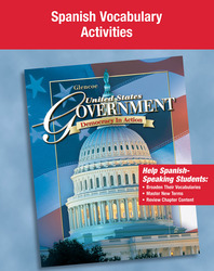 United States Government: Democracy in Action, Spanish Vocabulary Activity