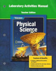 Glencoe Physical iScience, Grade 8, Laboratory Manual, Teacher Edition