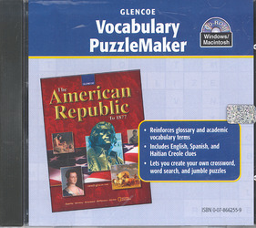 The American Republic to 1877, Vocabulary PuzzleMaker CD-ROM