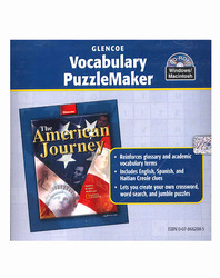 The American Journey, Vocabulary PuzzleMaker CD-ROM