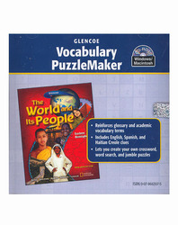 The World and Its People: Eastern Hemisphere, Vocabulary PuzzleMaker CD-ROM