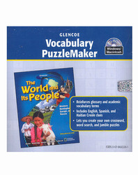 The World and Its People: Western Hemisphere, Europe, and Russia, Vocabulary PuzzleMaker CD-ROM