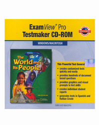 The World and Its People, ExamView® Pro Testmaker CD-ROM