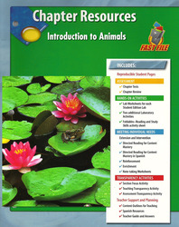 Glencoe Life iScience, Introduction to Animals Chapter Fast Files