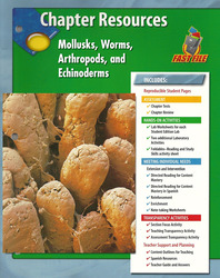 Glencoe Life iScience, Mollusks, Worms, Arthropods, and Echinoderms Chapter Fast Files