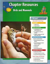Glencoe Life iScience, Birds and Mammals Chapter Fast Files