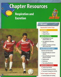 Glencoe Life iScience, Grade 7, Respiration and Excretion Chapter Fast Files