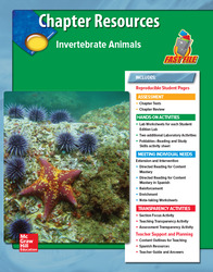 Glencoe iScience, Level Red, Grade 6, Chapter Fast File: Invertebrate Animals