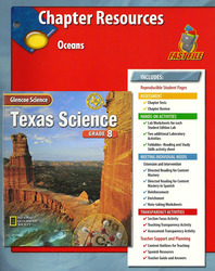 Glencoe iScience, Level Red, Grade 6, Chapter Fast Files: Oceans