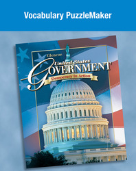 United States Government: Democracy in Action, Vocabulary PuzzleMaker CD-ROM