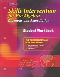 Skills Intervention for Pre-Algebra: Diagnosis and Remediation, Student Workbook