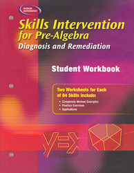 Skills Intervention for Pre-Algebra: Diagnosis and Remediation, Student Workbook