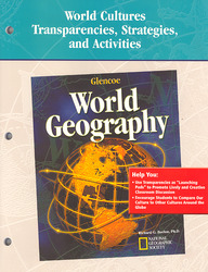 Glencoe World Geography, World Cultures Transparencies, Strategies and Activities