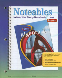 Glencoe Algebra 2, Noteables: Interactive Study Notebook with Foldables