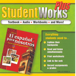 El español para nosotros: Curso para hispanohablantes Level 1, StudentWorks Plus CD-ROM