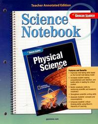 Glencoe Physical iScience, Grade 8, Science Notebook, Teacher Edition