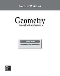 Geometry: Concepts and Applications, Practice Workbook