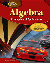 Algebra: Concepts and Applications, Volume 2, Student Edition