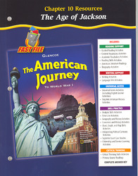 The American Journey To World War 1, Chapter 10 Resource Book
