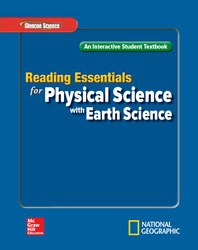 Glencoe Physical iScience with Earth iScience, Grade 8, Reading Essentials, Student Edition