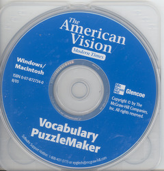 The American Vision, Modern Times, Vocabulary Puzzlemaker, CD-ROM