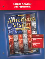 The American Vision, Modern Times, Spanish Activities and Assessment